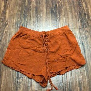 Rustic orange shorts